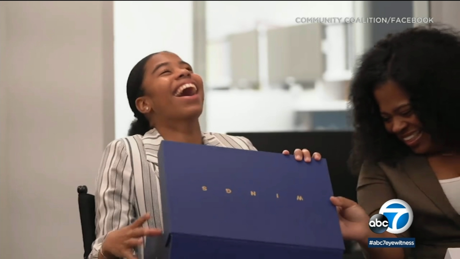 e7a38bff8f2c39 Crenshaw High School student surprised with scholarship from Michael Jordan s  Wings program