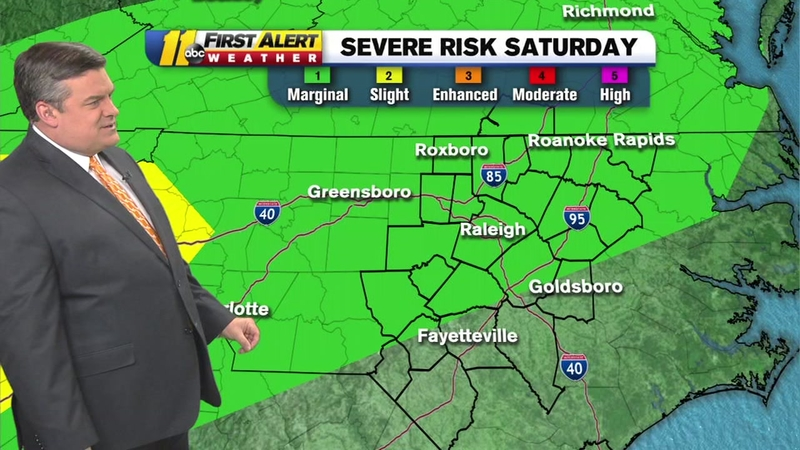 Raleigh area at low risk for severe weather Saturday