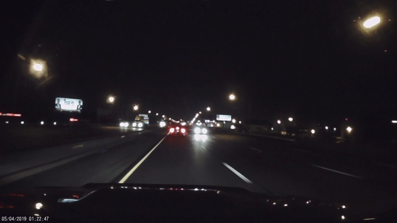 Dramatic video captures wrong way driver just before fatal crash on