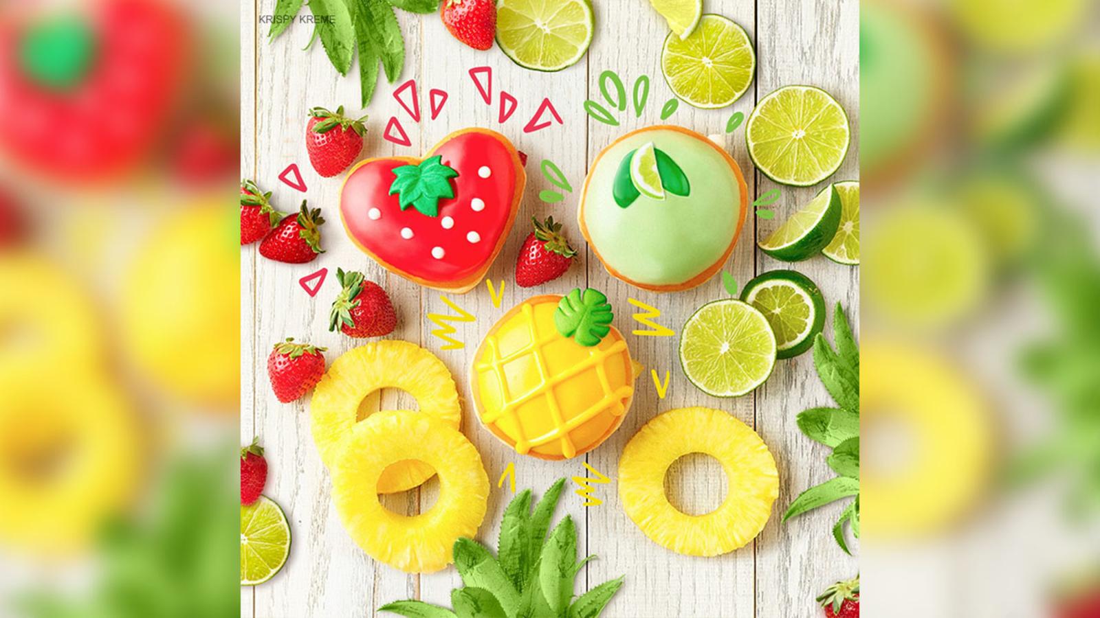 Krispy Kreme Releases Key Lime Pineapple And Strawberry