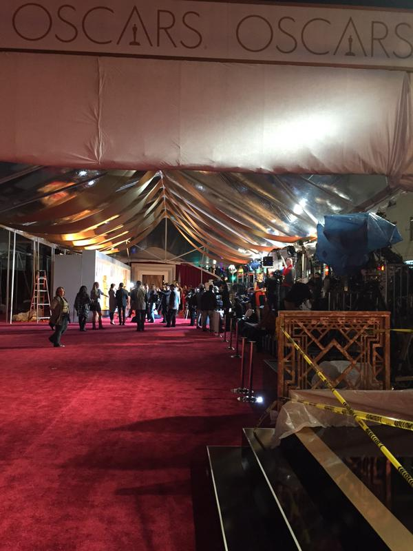 """<div class=""""meta image-caption""""><div class=""""origin-logo origin-image none""""><span>none</span></div><span class=""""caption-text"""">ABC7 News reporter Katie Marzullo takes a behind-the-scenes look at the 87th Oscars in Hollywood, Calif. On Feb. 21, 2015. (KGO-TV/Katie Marzullo)</span></div>"""