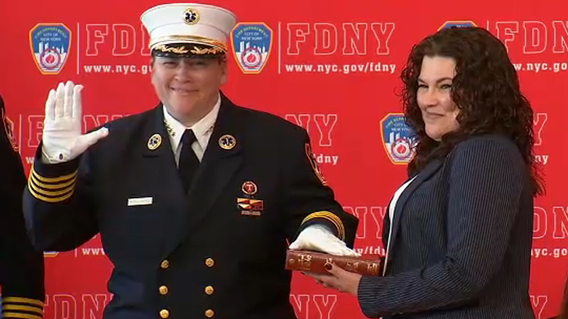 FDNY appoints 1st woman as chief of EMS, 1st Hispanic as assistant chief