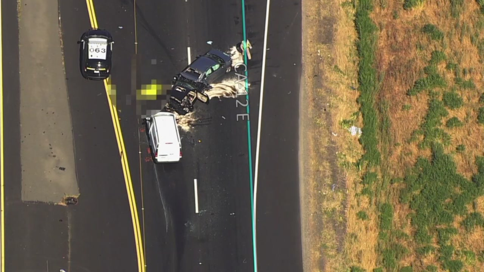 1 person killed in 4 car crash on Highway 12 in Fairfield