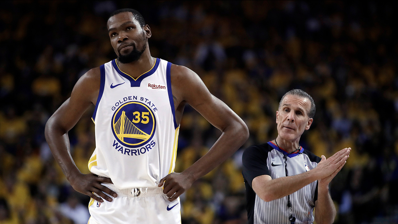 a4e87d5901c8 Kevin Durant injury update  Warriors star ruled out for Game 1 against Trail  Blazers