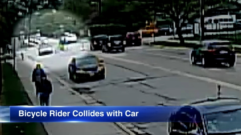 VIDEO: Riverside student biking to class collides with car