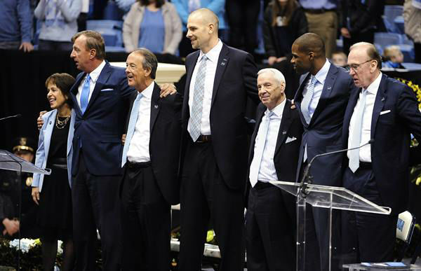 "<div class=""meta image-caption""><div class=""origin-logo origin-image none""><span>none</span></div><span class=""caption-text"">UNC-Chapel Hill celebrated the life of Coach Dean Smith during a public memorial service Sunday. (WTVD Photo/ Photos Courtesy: UNC Athletics Communications)</span></div>"
