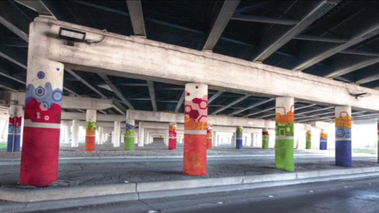 University of houston graffiti project beautifies part of i 45