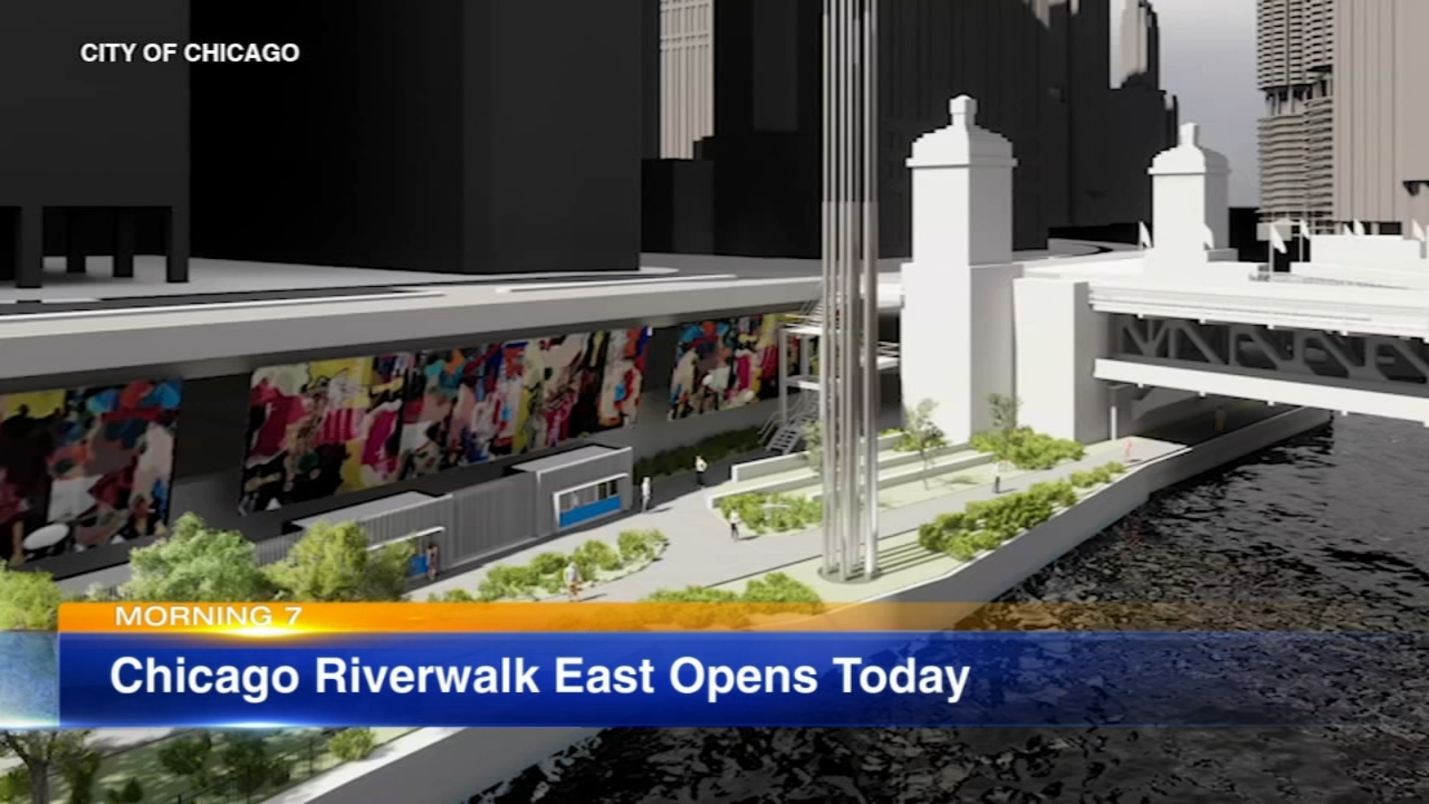 Newly transformed Chicago Riverwalk East to open Monday