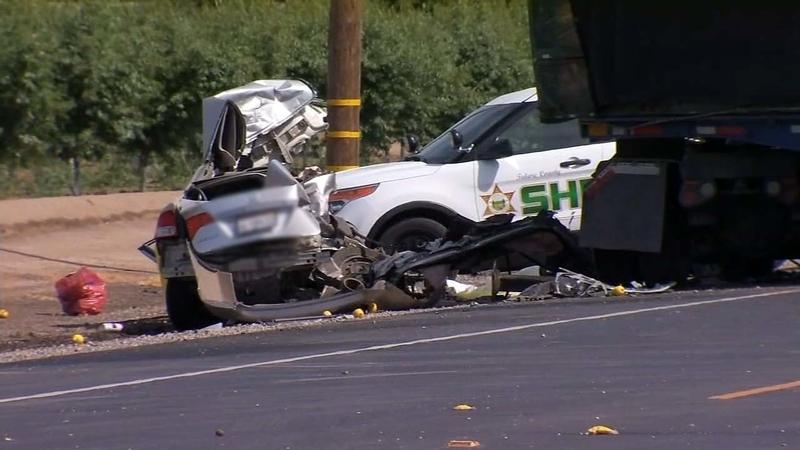 2 people dead after crash involving semi-truck in Visalia