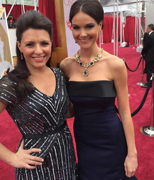 """<div class=""""meta image-caption""""><div class=""""origin-logo origin-image none""""><span>none</span></div><span class=""""caption-text"""">ABC7 News Reporter Katie Marzullo poses for a photo on the red carpet ahead of the 87th Oscars in Hollywood, Calif. on Sunday, Feb. 22, 2015. (KGO-TV/Katie Marzullo)</span></div>"""