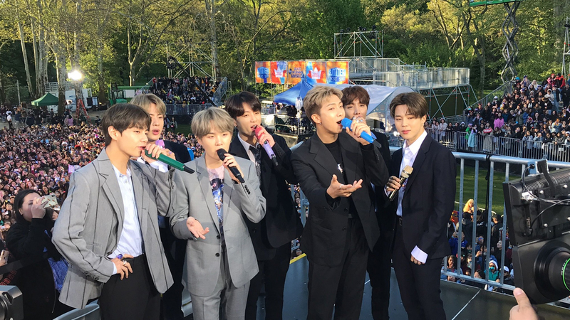 BTS GMA concert takes Central Park by storm, fans camped out for days