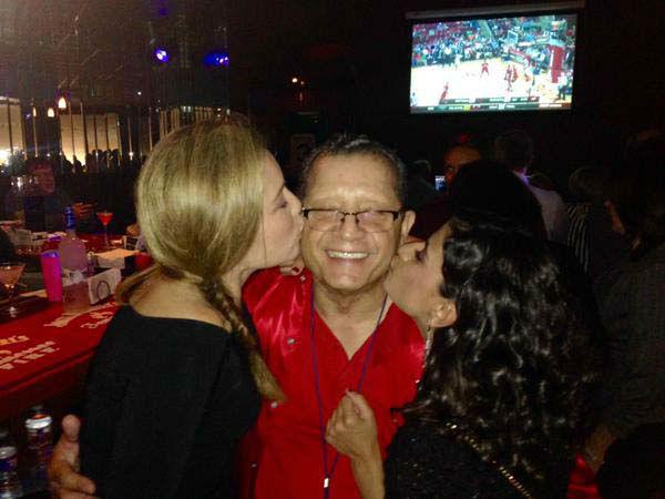 "<div class=""meta image-caption""><div class=""origin-logo origin-image none""><span>none</span></div><span class=""caption-text"">Karla Barguiarena and Pooja Lodhia gave Johnny kisses at his goodbye party (KTRK Photo)</span></div>"