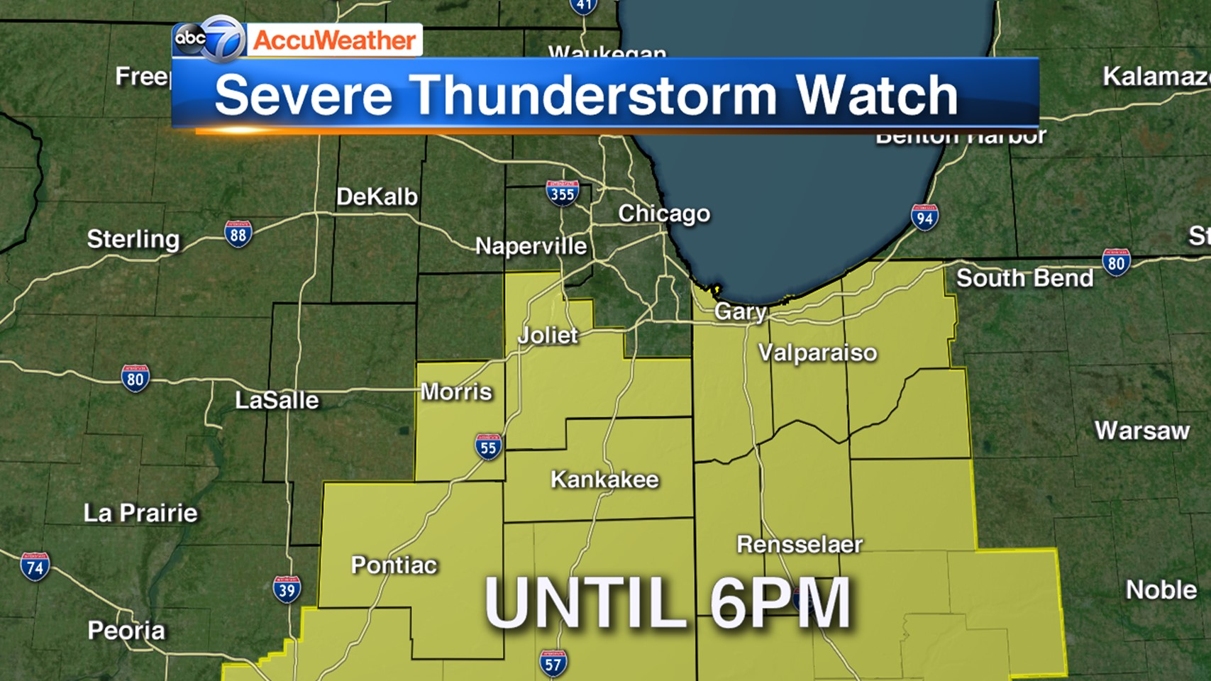 chicago weather live radar  severe thunderstorm watch