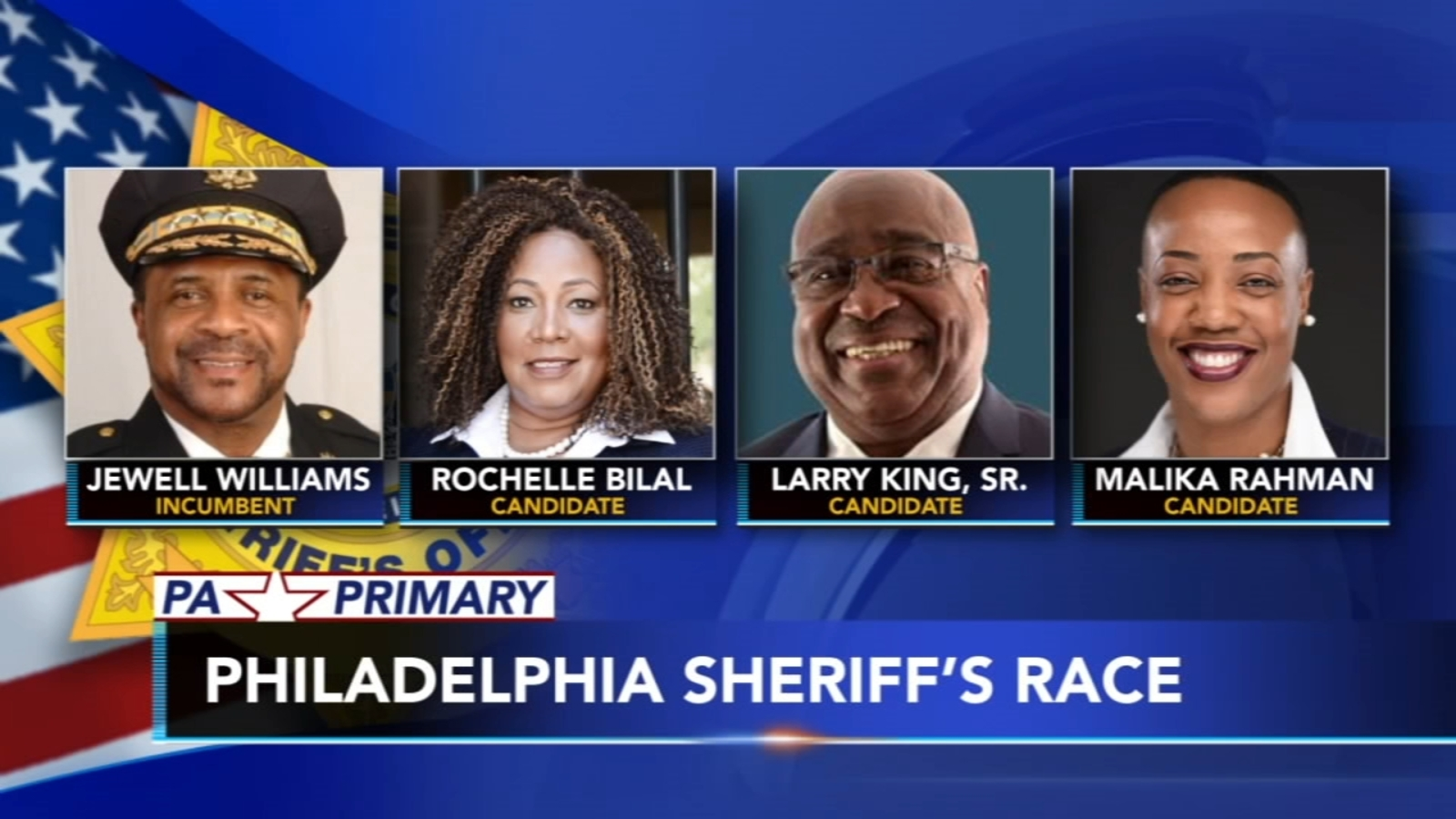 Philadelphia primary voters have four choices for sheriff