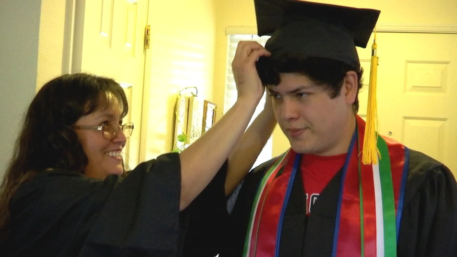 Mother and son both graduating Fresno State together