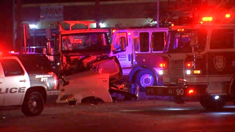 Highway 6 and Katy Freeway partially closed after deadly crash