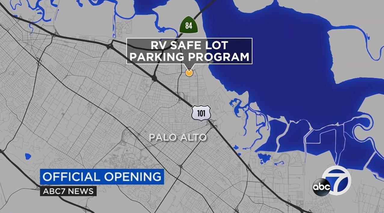 82d6b04fad RV-safe parking lot opens in East Palo Alto | abc7news.com