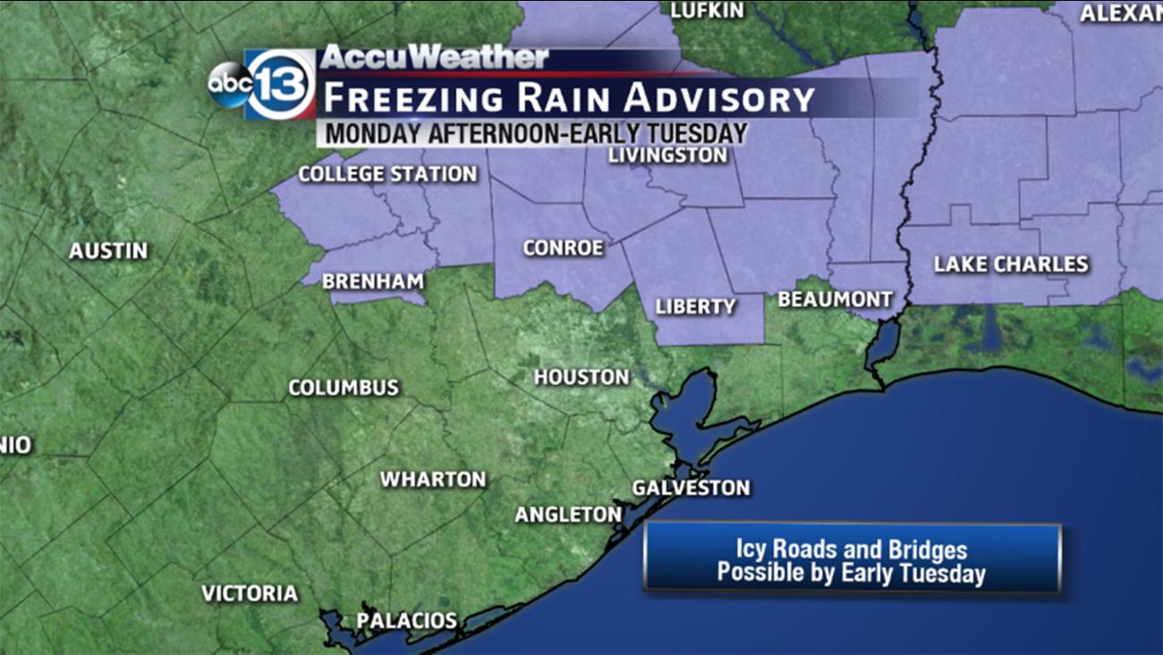 Freezing rain advisory