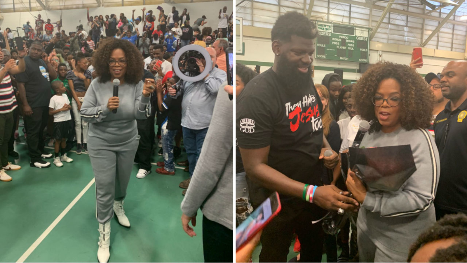 Oprah Surprises West Side High School Principal Students With 500k Donation For Lights On Program Abc7 Com
