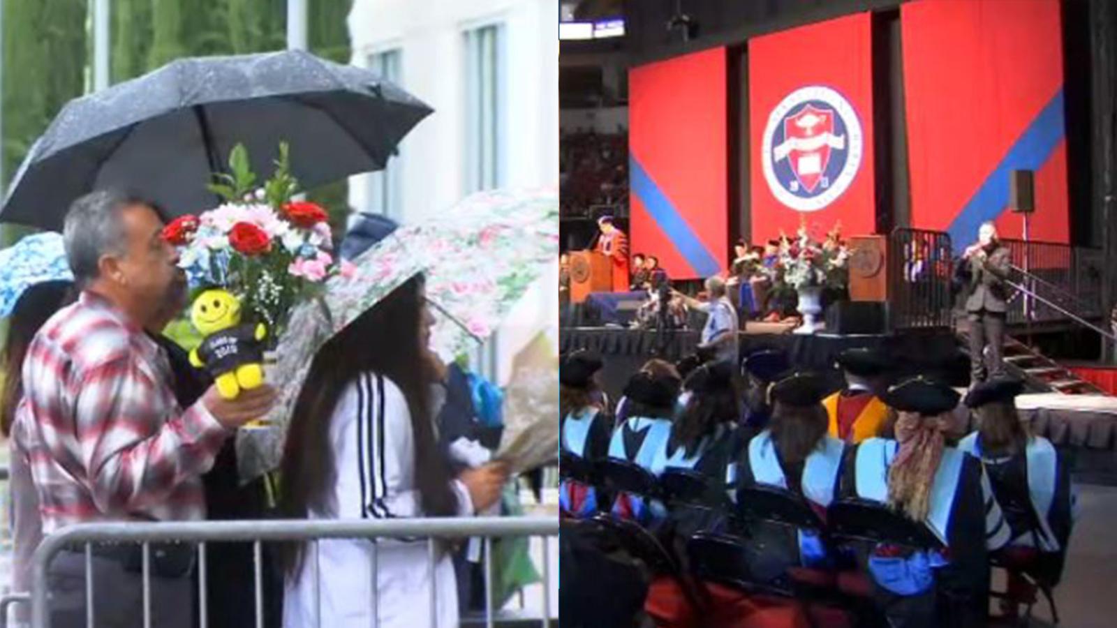 No rain on this parade: Fresno State graduates celebrate commencement rain or shine