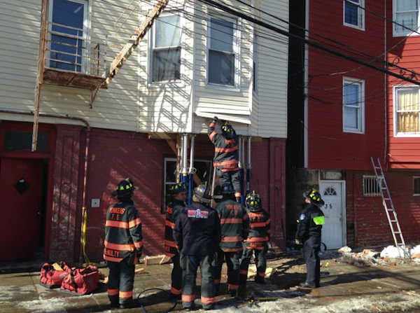 """<div class=""""meta image-caption""""><div class=""""origin-logo origin-image none""""><span>none</span></div><span class=""""caption-text"""">A car struck a building in Yonkers and now several residents are displaced. The car lost control at 355 Walnut Street on Monday morning. (WABC Photo/ WABC)</span></div>"""