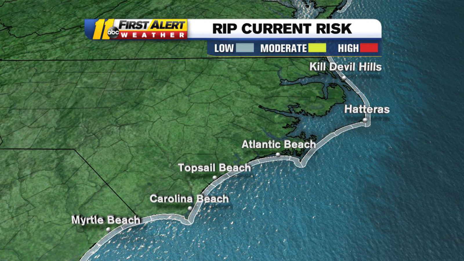 Memorial Day 2019: Rip current forecast at North Carolina beaches