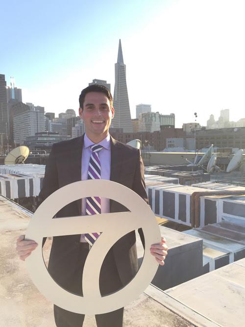 """<div class=""""meta image-caption""""><div class=""""origin-logo origin-image none""""><span>none</span></div><span class=""""caption-text"""">ABC7 News Meteorologist Drew Tuma poses for a photo to show off his Super Bowl 50 spirit. (KGO-TV/ABC7 News)</span></div>"""