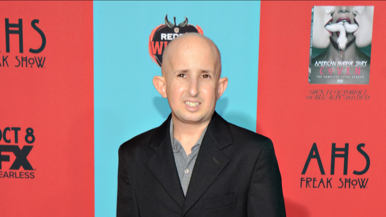 "In this Oct. 5, 2014 file photo, Ben Woolf arrives at the premiere screening of ""American Horror Story: Freak Show"" at TCL Chinese Theatre, in Los Angeles, Calif."