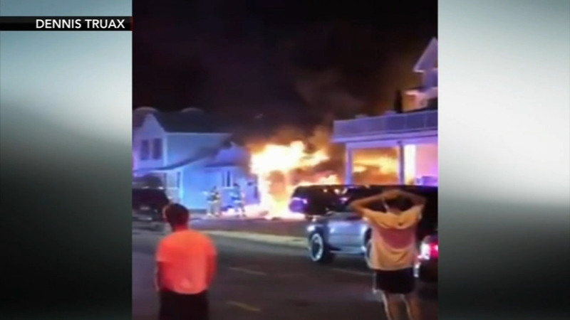 Jersey Shore home catches fire just after residents arrive