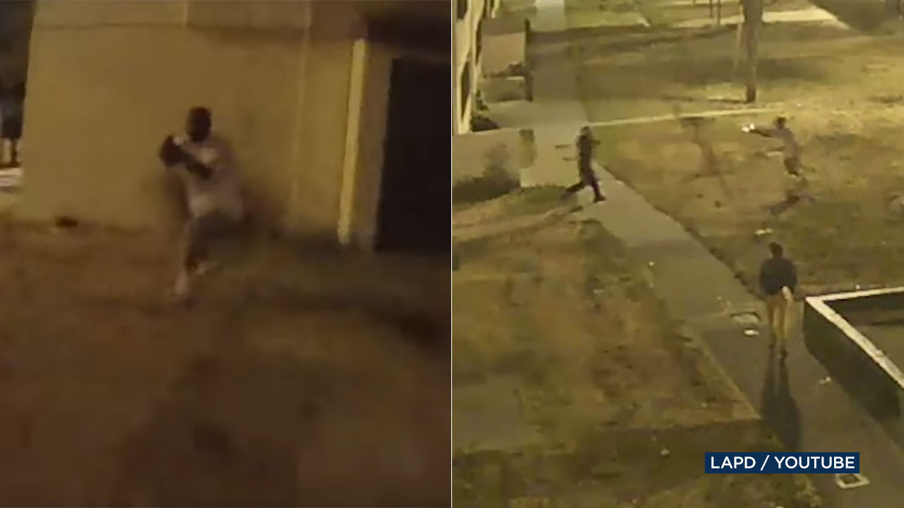 DRAMATIC BODYCAM VIDEO: Suspect, LAPD officer engage in wild gun battle in South LA