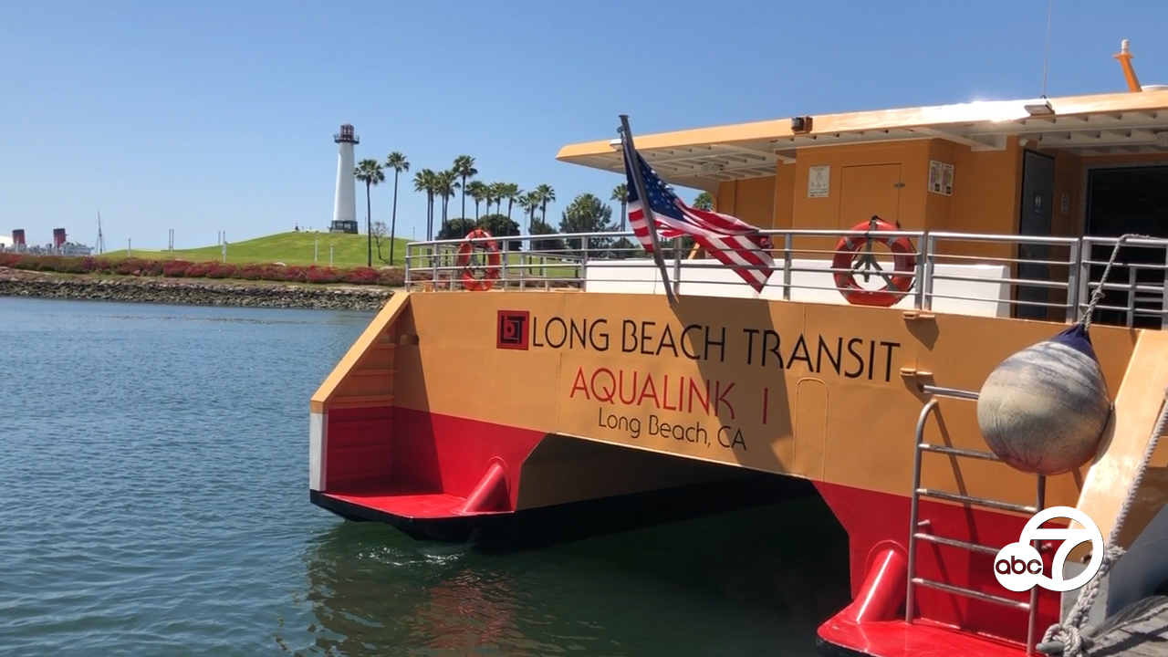 Getting around Long Beach via water taxi