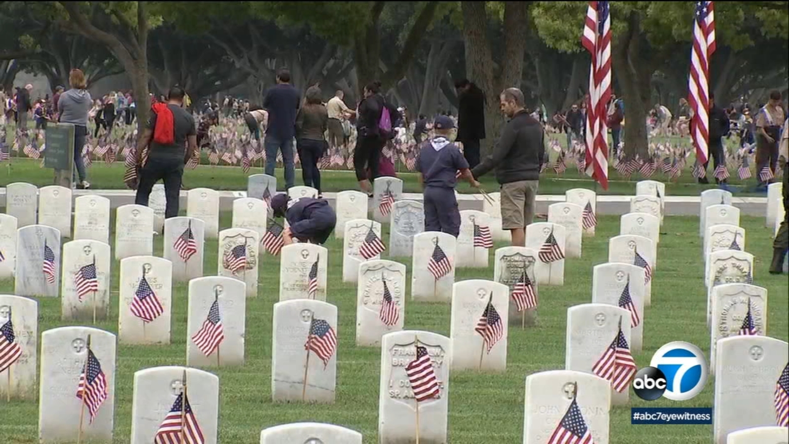 Memorial Day weekend tradition: Thousands of scouts honor the fallen at Los Angeles National Cemetery