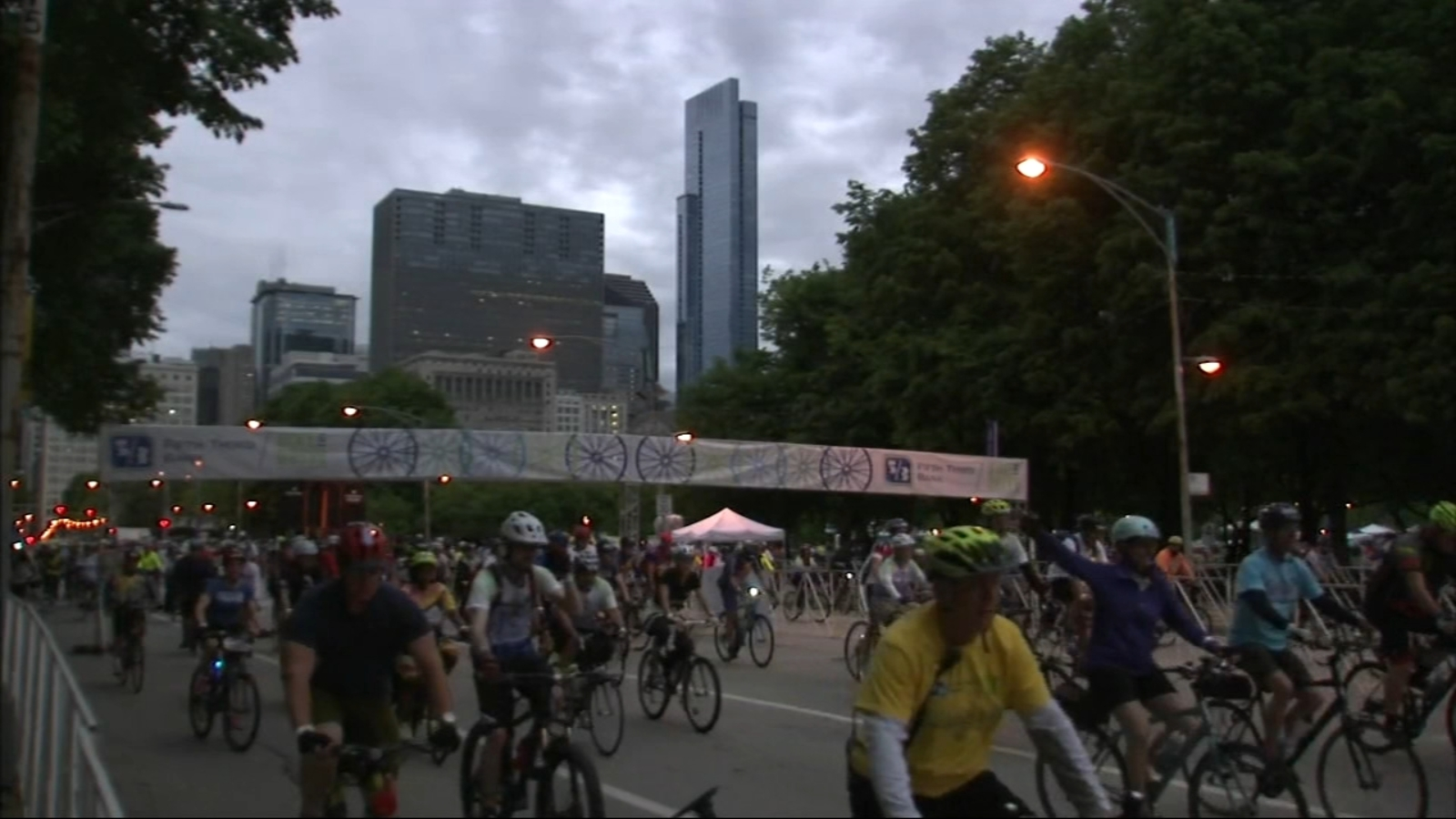 Bicyclists take over Lake Shore Drive for annual Bike the Drive fundraiser