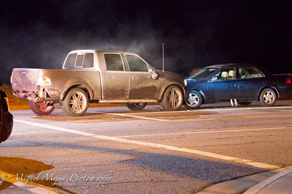 "<div class=""meta image-caption""><div class=""origin-logo origin-image kabc""><span>KABC</span></div><span class=""caption-text"">A truck crashed into another car at an intersection in Palmdale during a dangerous high-speed chase on Monday, Feb. 23, 2015.</span></div>"
