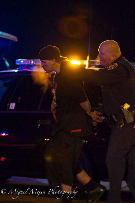 "<div class=""meta image-caption""><div class=""origin-logo origin-image kabc""><span>KABC</span></div><span class=""caption-text"">A reckless driving suspect is taken into custody after leading police on a wild hourslong chase on Monday, Feb. 23, 2015.</span></div>"