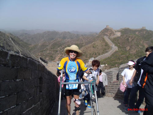 "<div class=""meta image-caption""><div class=""origin-logo origin-image kabc""><span>KABC</span></div><span class=""caption-text"">Beth Sanden completes another marathon in Asia on the Great Wall of China.</span></div>"