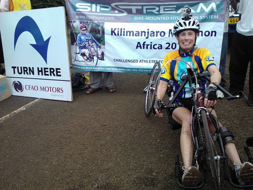 "<div class=""meta image-caption""><div class=""origin-logo origin-image kabc""><span>KABC</span></div><span class=""caption-text"">Sanden is getting closer to her goal when she finishes a marathon in Africa at Mt. Kilimanjaro.</span></div>"