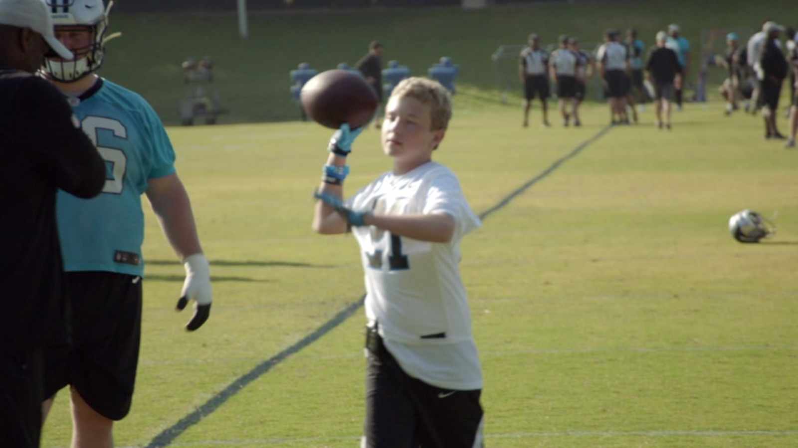 Panthers invite boy battling cancer to practice and gain 'extra juice'