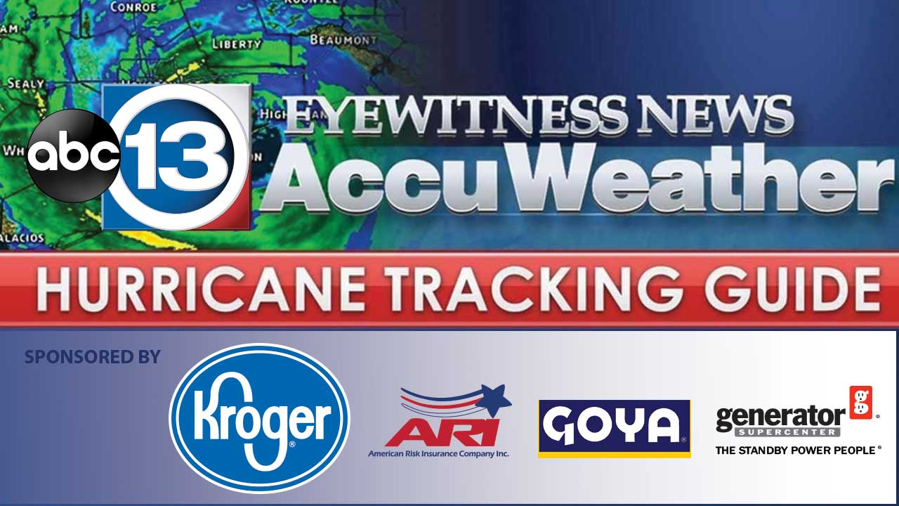 graphic relating to Printable Hurricane Tracking Maps titled ABC13 Hurricane GuideChief Meteorologist Travis Herzog and
