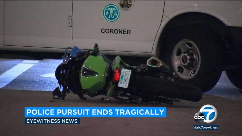 Motorcycle chase ends in DTLA after pedestrian struck, killed