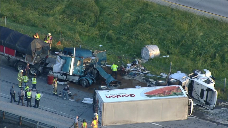 2 tractor trailers collide on Route 1 bypass in West Grove