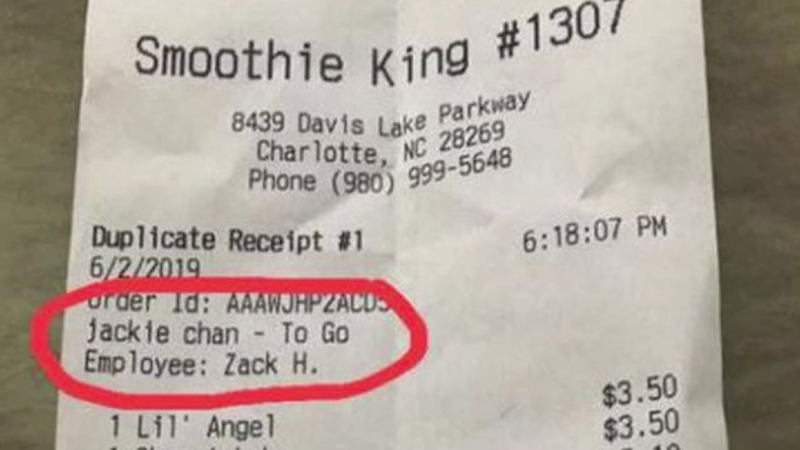 2 Smoothie King Employees Fired For Writing Racist Remarks On Receipts