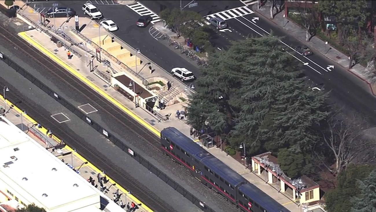 Caltrain accident in Palo Alto