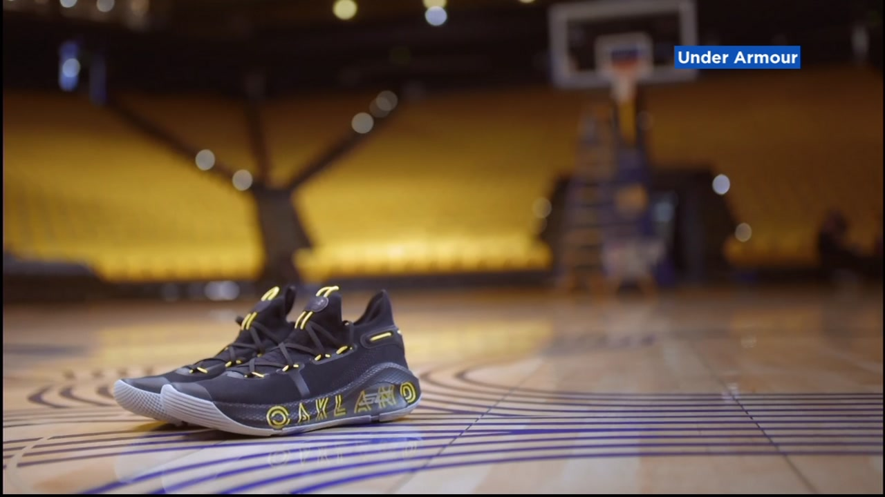 Oakland' shoes during NBA Finals Game