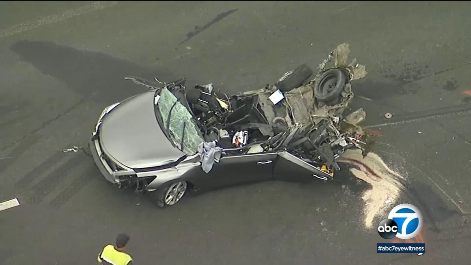 Temecula 1 Killed 3 Hurt In Chain Reaction Crash On 15