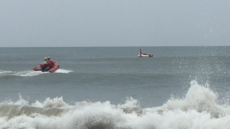 Boy on unicorn-shaped float rescued off NC coast after being swept away