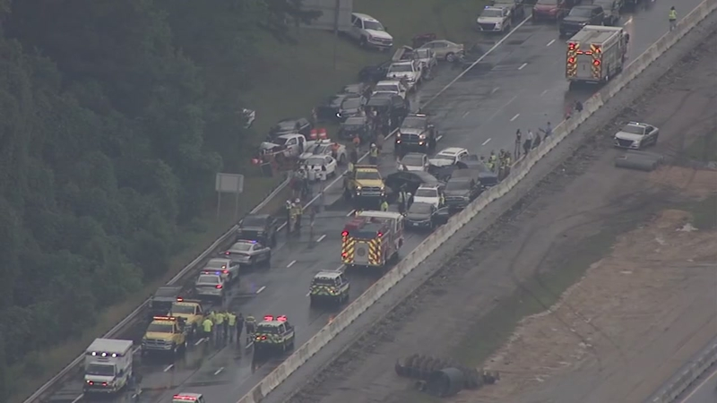 'Perfect storm' of events caused 30-car pileup on I-40, NCDOT says