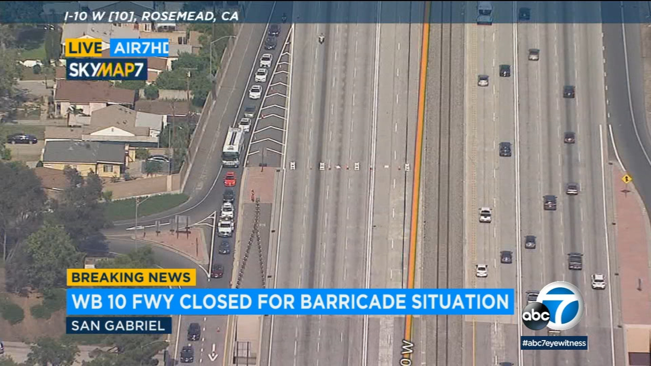 San Gabriel barricade ends as suspect shot by officers | abc7 com