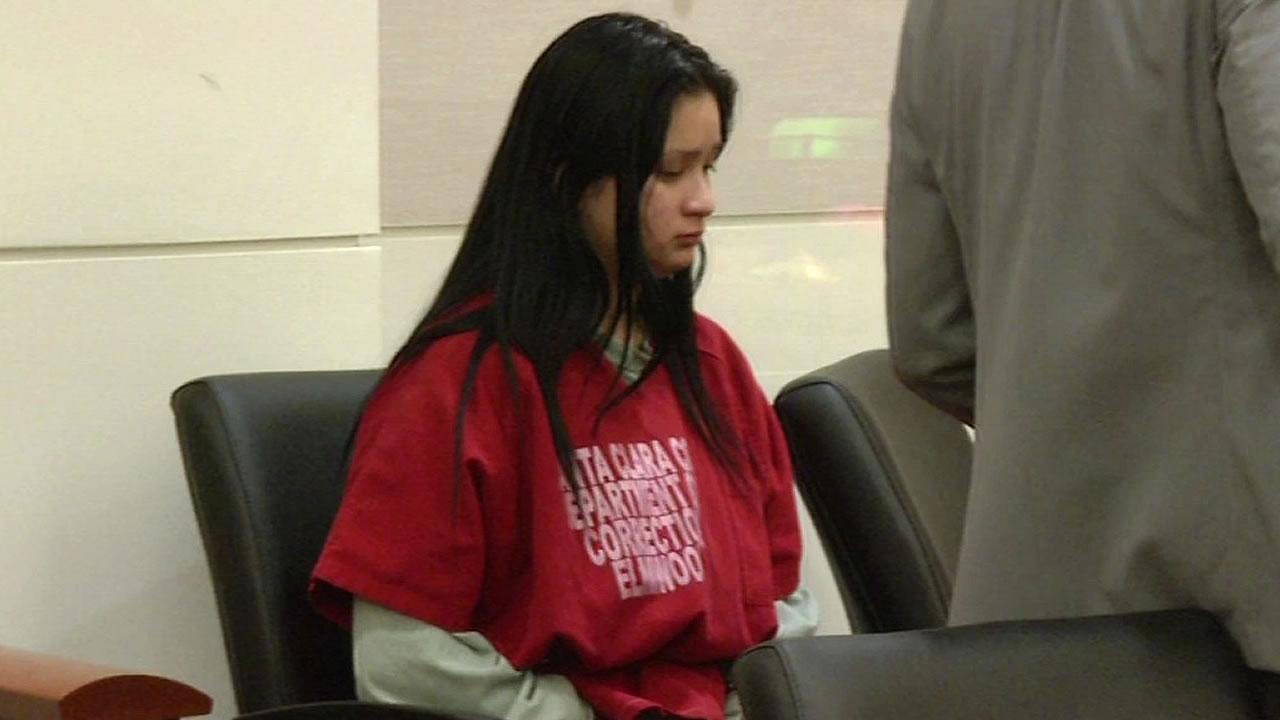 19-year-old Gabriela Ortiz sits in court