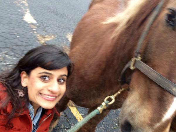 """<div class=""""meta image-caption""""><div class=""""origin-logo origin-image none""""><span>none</span></div><span class=""""caption-text"""">Pooja and a horse selfie (KTRK Photo)</span></div>"""